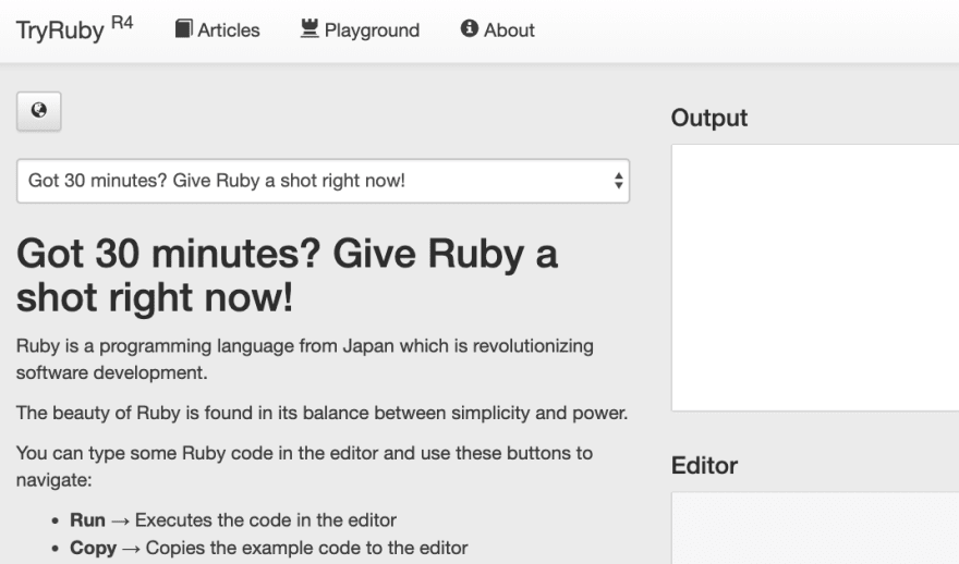 Try Ruby