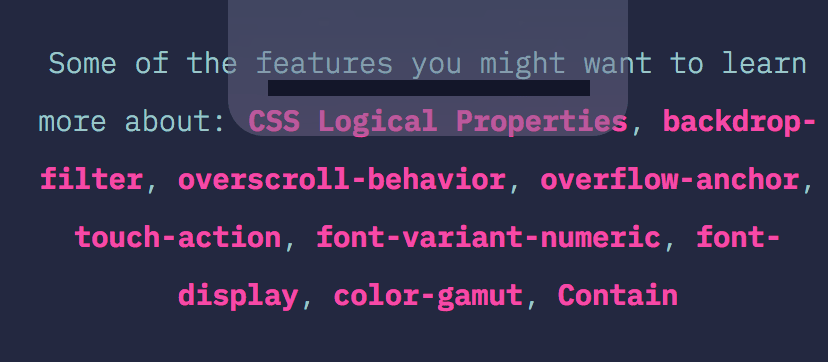 A recommendation from the State of CSS survey to learn more about the topics I was not familiar with.