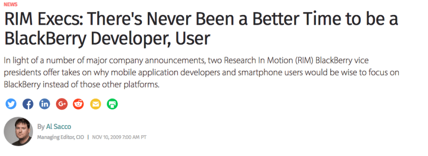 blackberry developer article