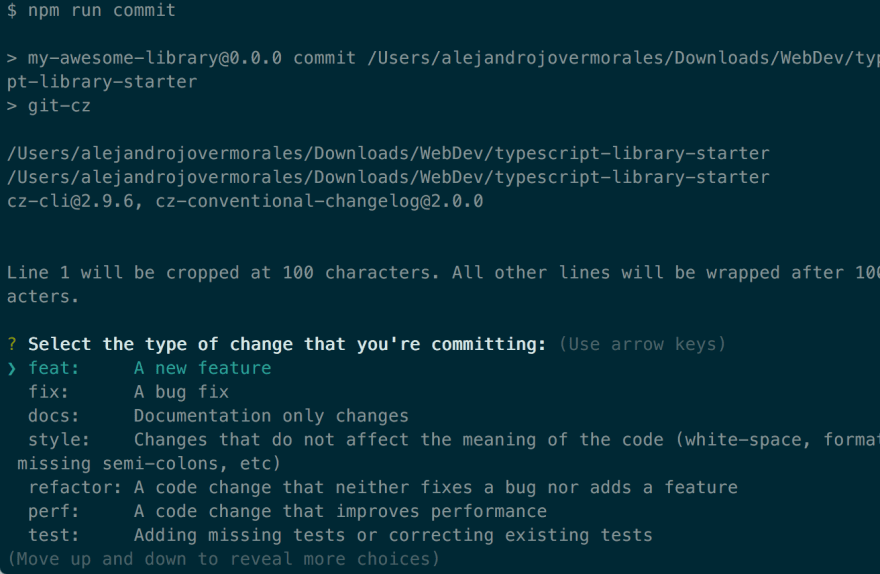 Conventional commit