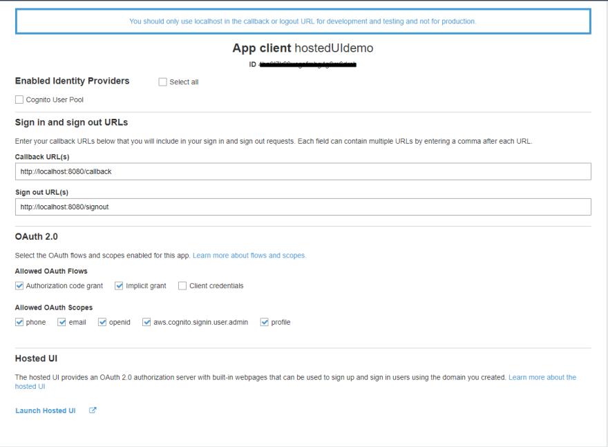 app-client settings