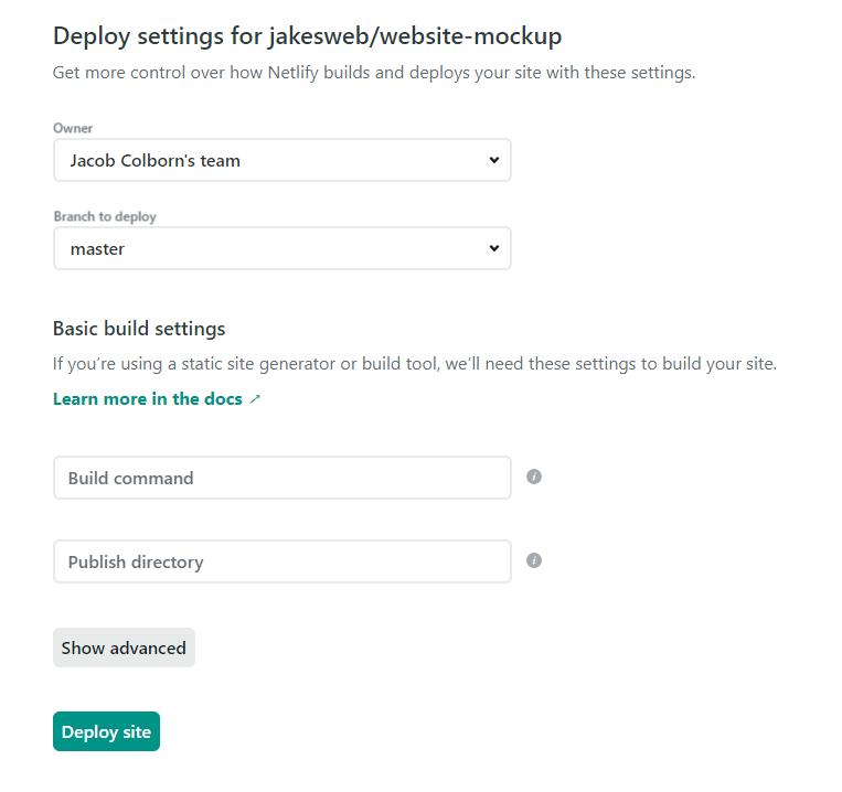 Netlify Deployment Page