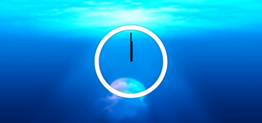 Screenshot of the HTMl file of our Analog Clock