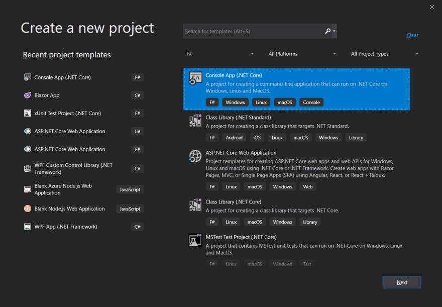 New FSharp Console App