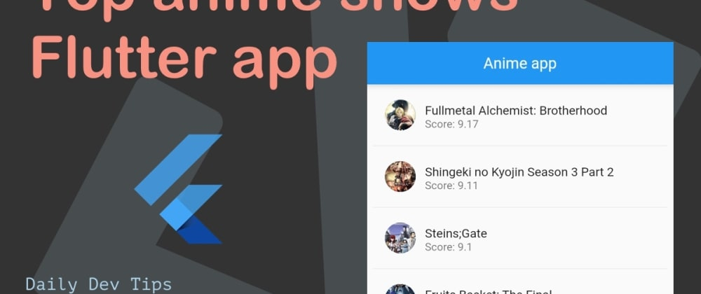 Cover image for Top anime shows Flutter app