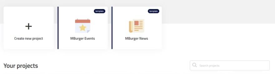Create project MBurger