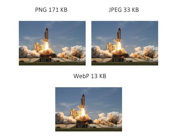 PNG: 171 KB; JPEG: 33 KB; WebP: 13KB
