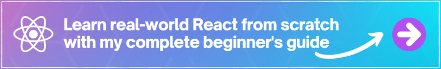 course banner for beginners React course