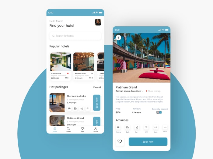 Hotel Booking App Features