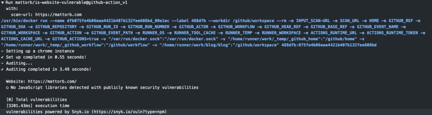 Github Action for Javascript Vulnerability Scanning