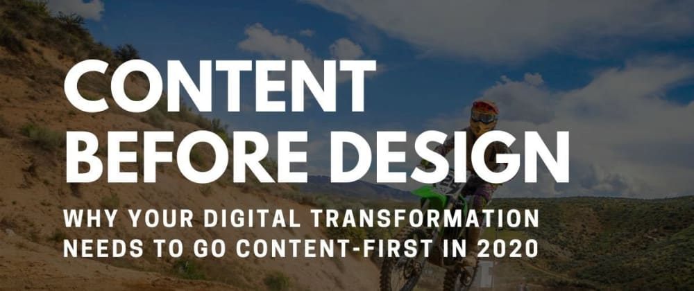 Cover image for The Concept of Content Before Design