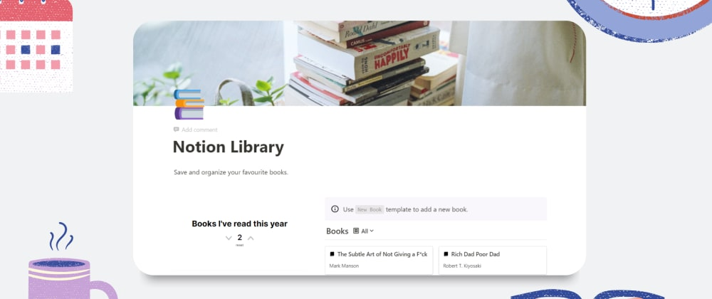 Cover image for Keep track of your books 📚using this template