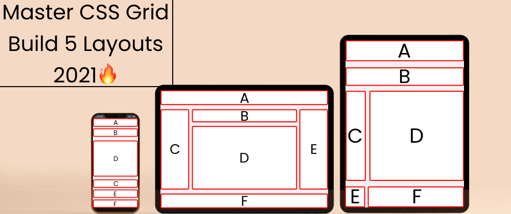 Cover image for Acing CSS Grid Model in 2021 with 5 Exercises || CSS 2021  🔥