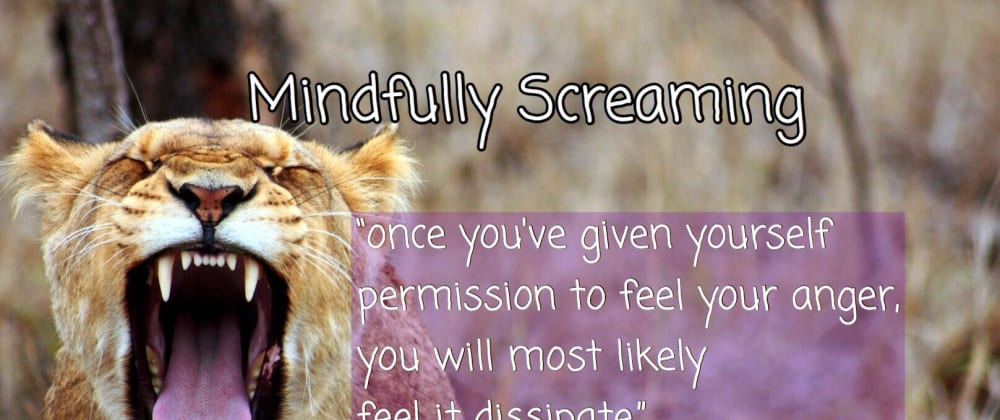 Cover image for Mindfully Screaming: How to deal with anger at work