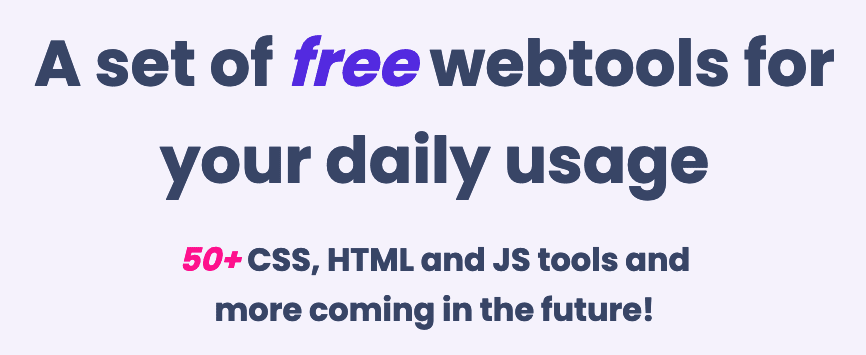 A set of free webtools for your daily usage