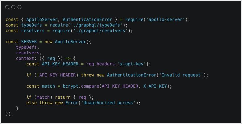 Apollo Server config