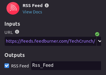 Configuring RSS feed module