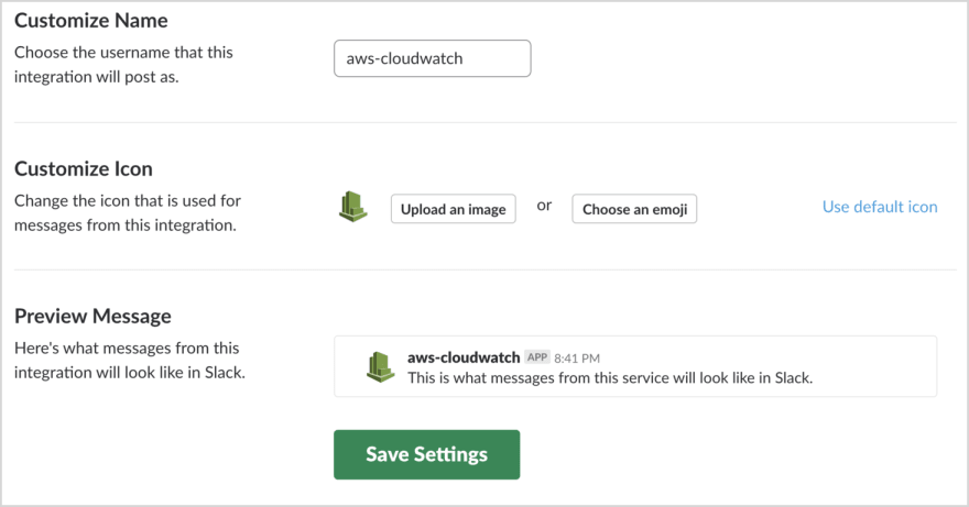 How to send AWS CloudWatch Alarms to Slack - DEV Community 👩 💻👨 💻