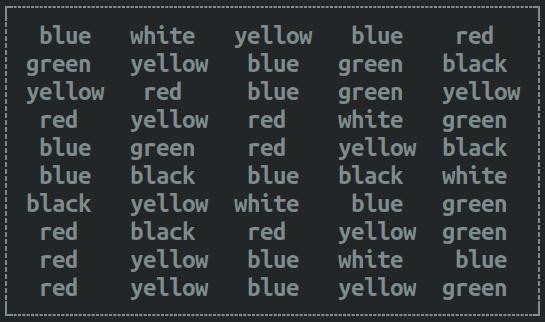 Color word box - neutral stimulus
