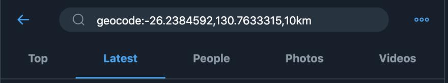 Alt Twitter Geolocation Search