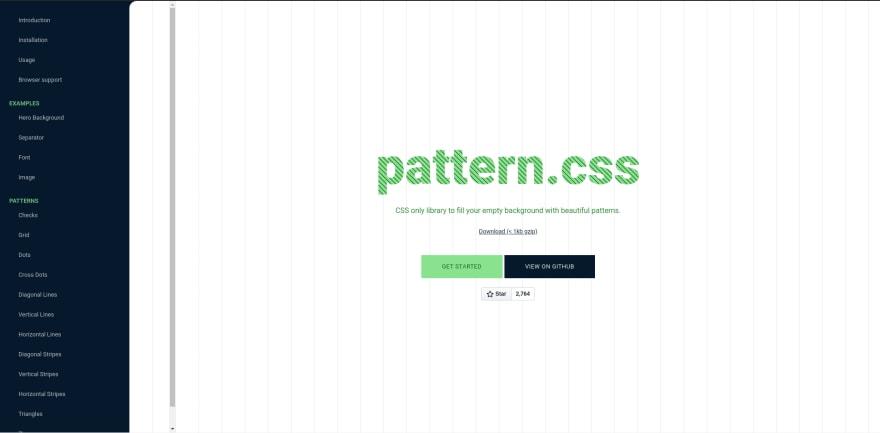 Pattern.css landing page