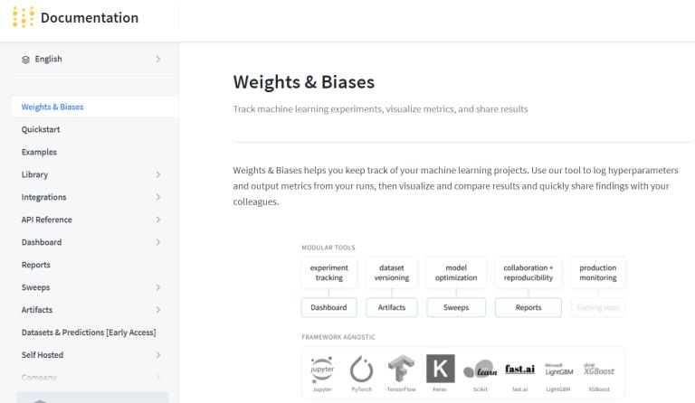 WandB website