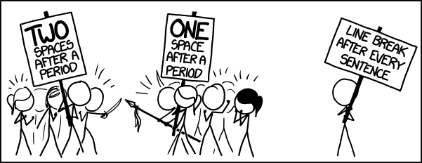 Comic strip about common code standards