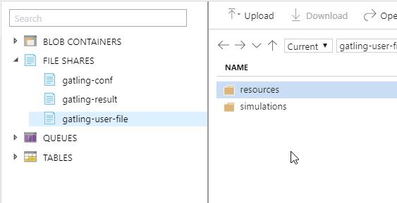 Folder layout example
