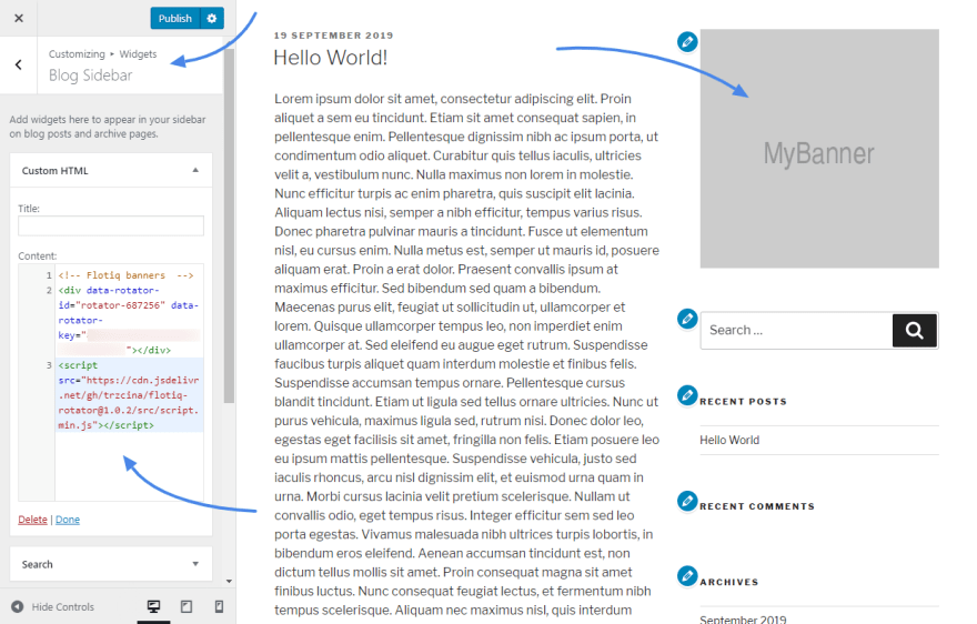 Flotiq Rotator in Wordpress