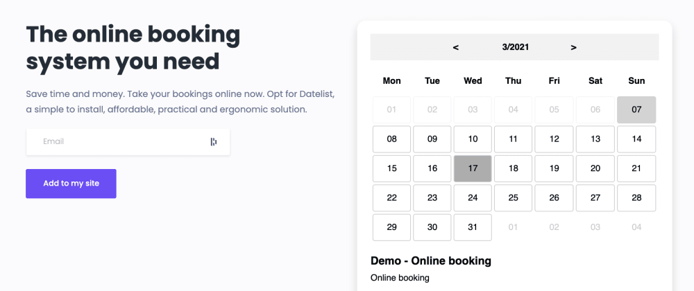 Cover image for Looking to integrate a booking calendar into your website?
