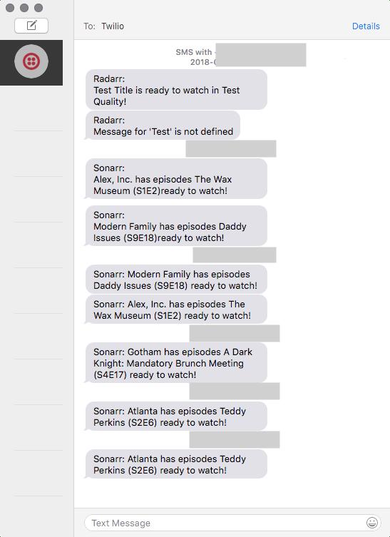  Messages Twilio SMS conversation