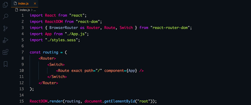 React code snippet with the Dobri Next - C05 - Electron theme