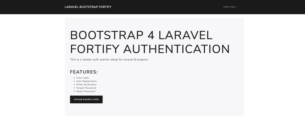 Cover image for Laravel 8 authentication with Bootstrap and Fortify