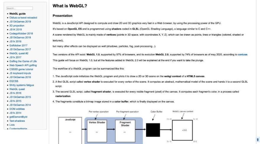 WebGL guide