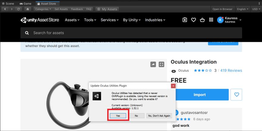 Oculus Integration