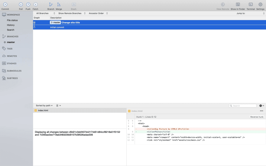 Sourcetree diff