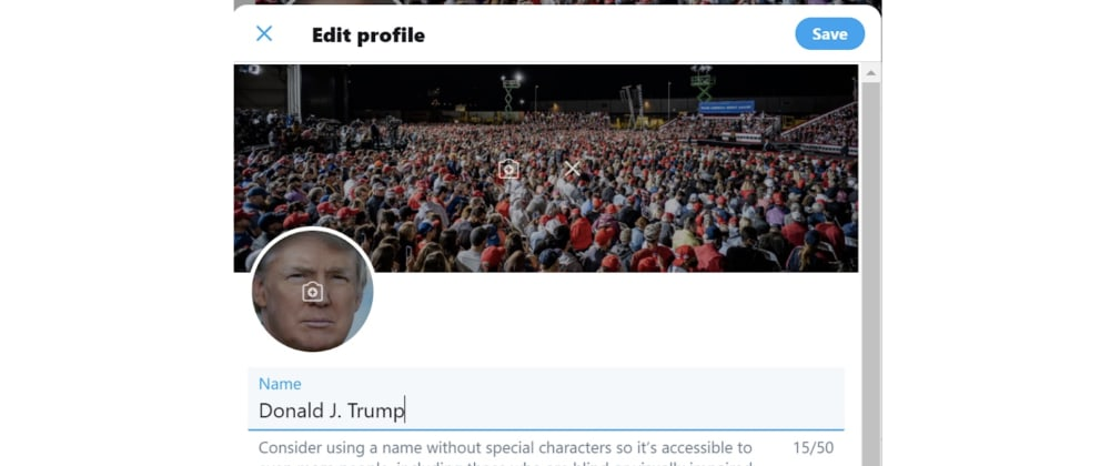 """Cover image for President Trump's Twitter accessed by security expert who guessed password """"maga2020!"""""""