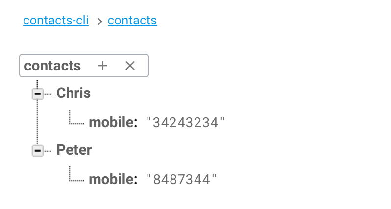 Contacts database