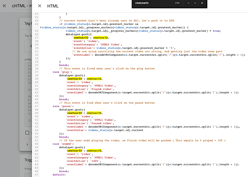 GTM Tag JavaScript Source