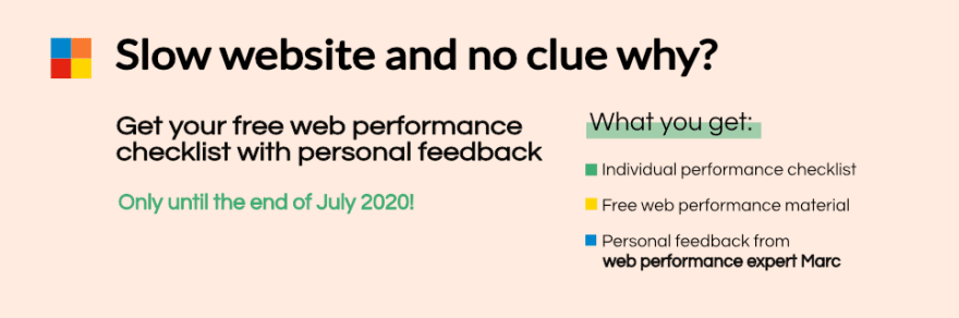 Web Performance Checklist