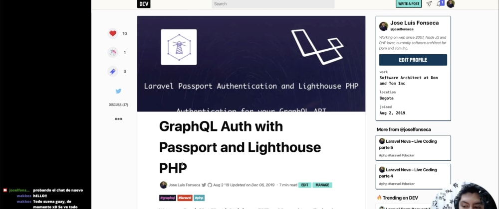 Cover image for GraphQL con Laravel - live coding