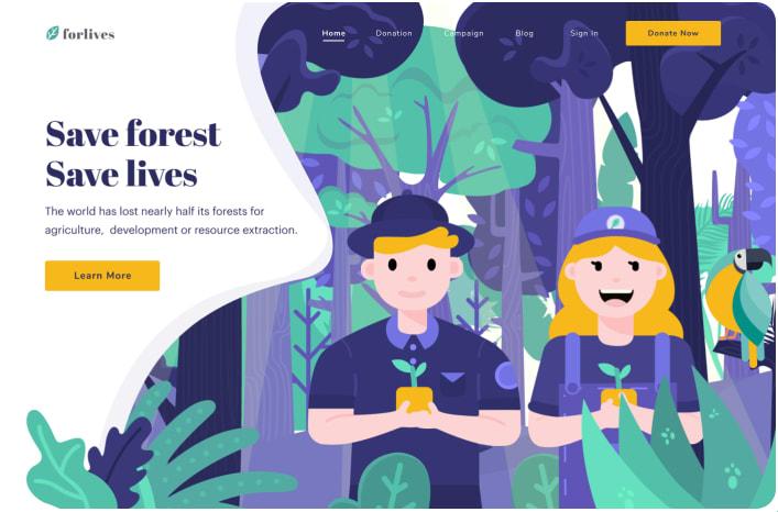 Forlives - Header Illustration Save Forest Website by Sindy Lailasari for Noansa on Dribbble.png