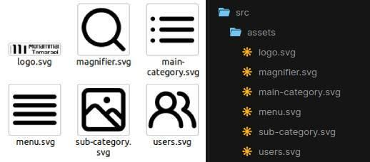 Mega menu assets