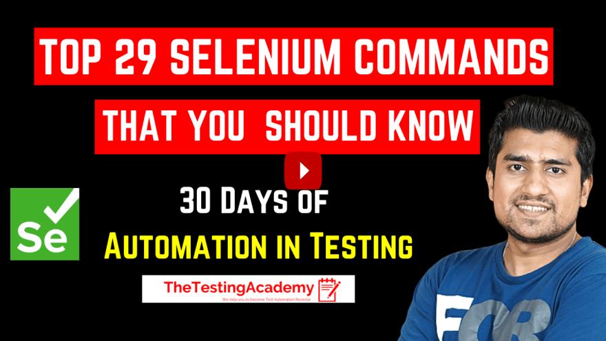 Selenium Commands