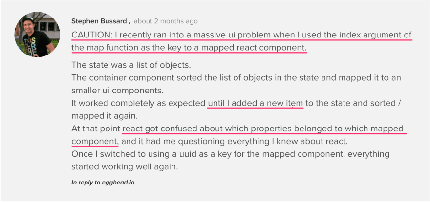 Stephen describes the problem he run into on [egghead.io](https://egghead.io/forums/lesson-discussion/topics/break-up-components-into-smaller-pieces-using-functional-components#post-6310)