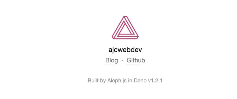 Cover image for a first look at aleph.js