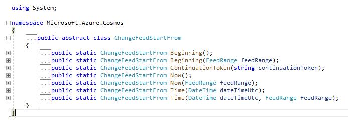 ChangeFeedStartFrom overload methods