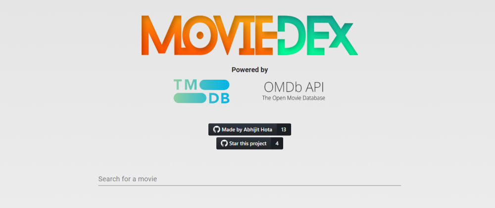 Cover image for MovieDex - My first React project!