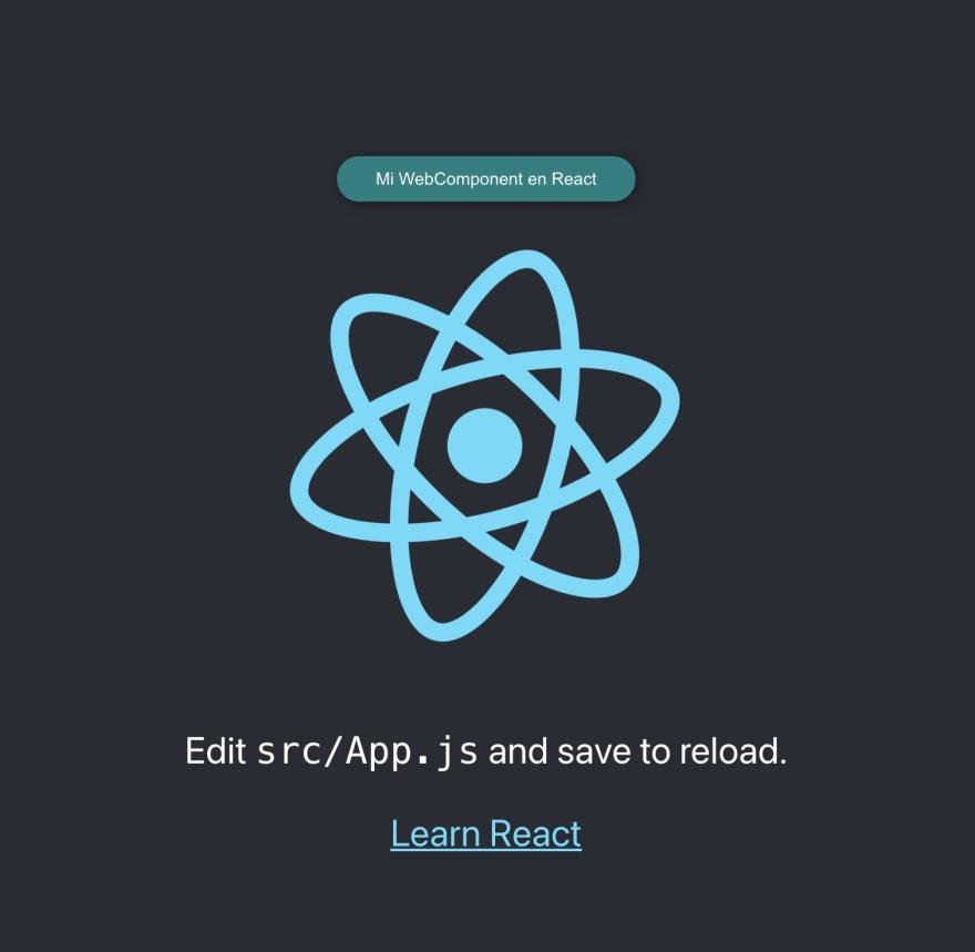 Usando webcomponent personalizado en React