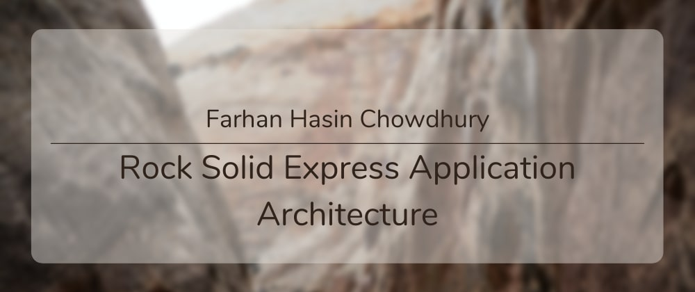 Cover image for Rock Solid Express Application Architecture